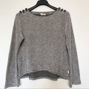 Roxy Grey cotton blend sweater size Lg